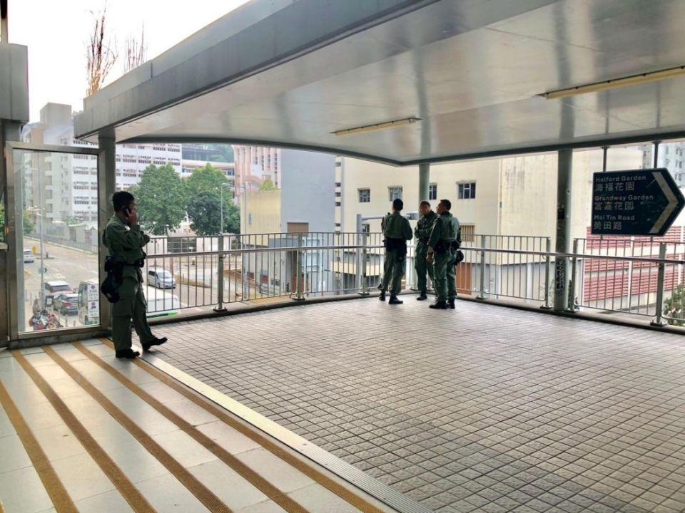 Alex Chow Tsz-lok funeral riot police Tai Wai MTR station