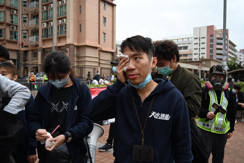 Ng Kin-wai pepper spray tin shui wai