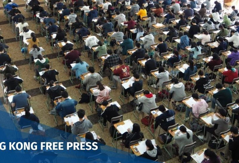 Hong Kong students in HKDSE exam