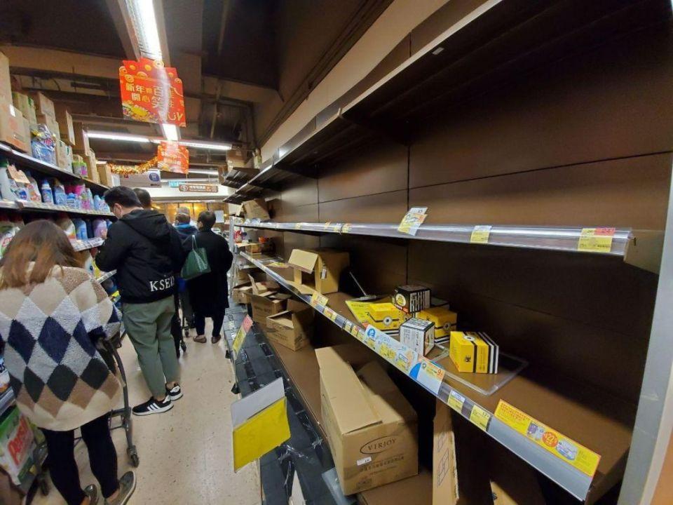 supermarket panic buying