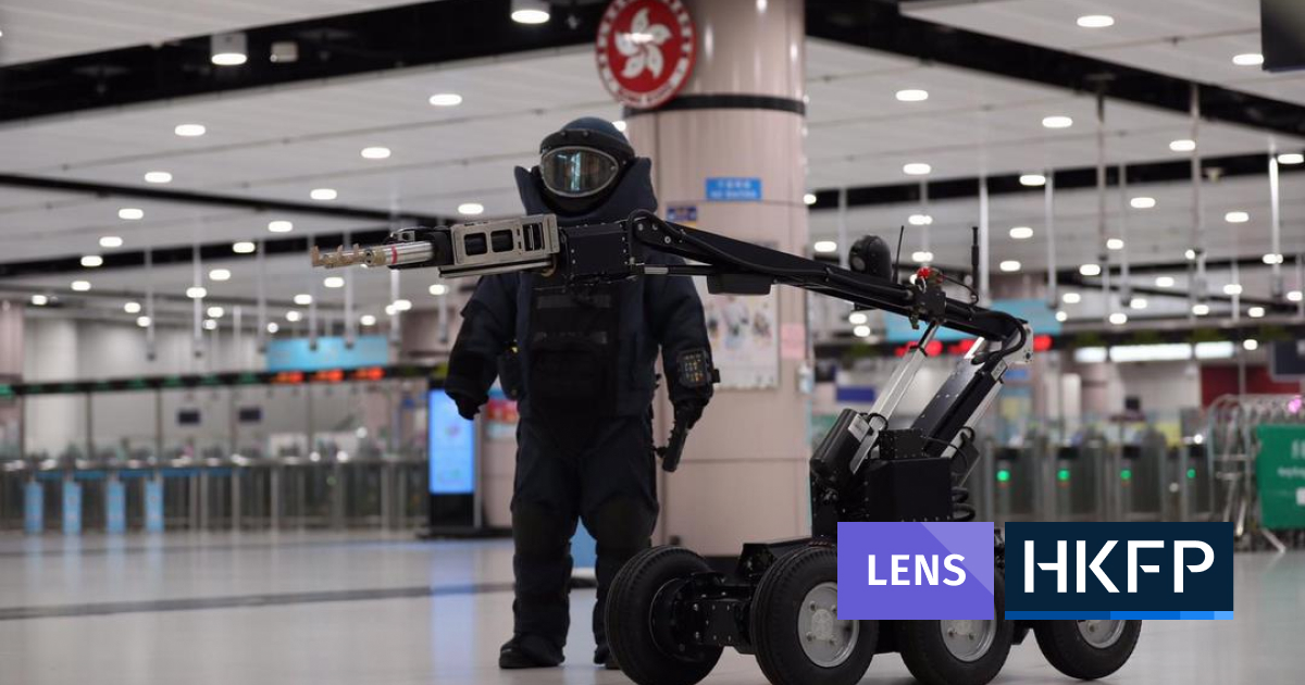 HKFP Lens: Hong Kong police conduct large-scale anti-terror drill near border