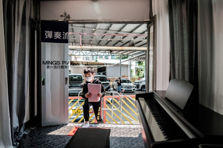 Hong Kong coronavirus virus piano lesson mobile