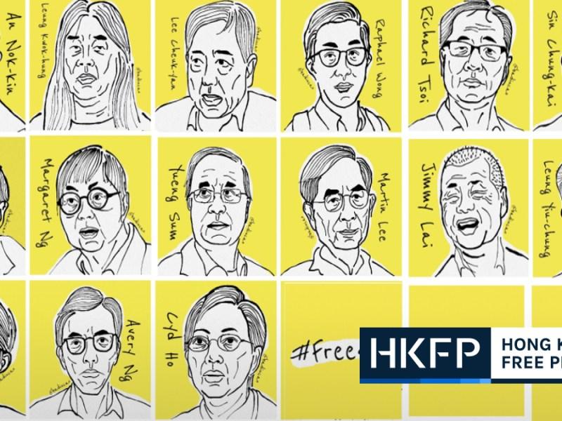 Hong Kong pro-democracy arrests democrats protest