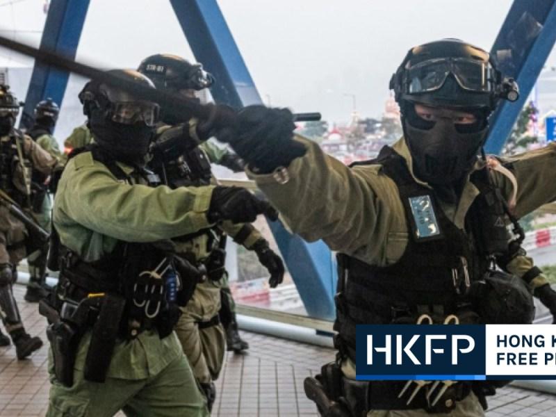 police baton protest