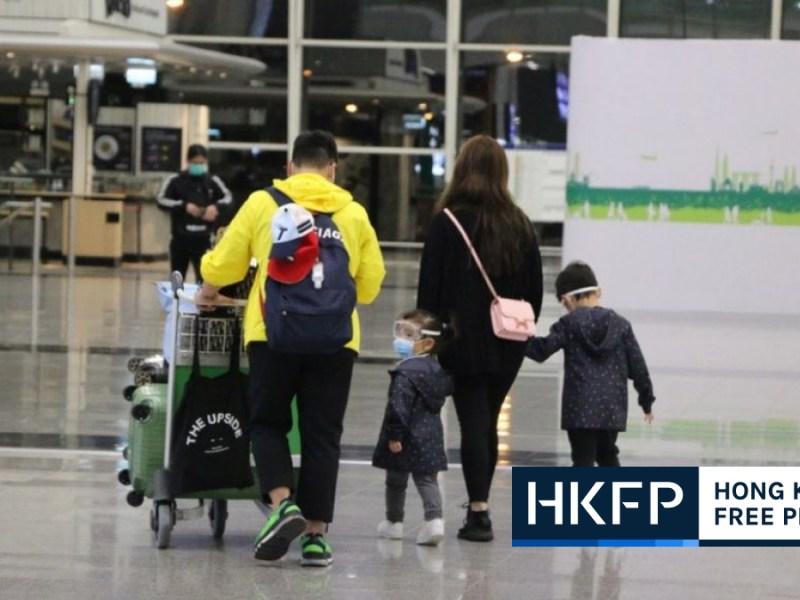 hong kong airport travellers