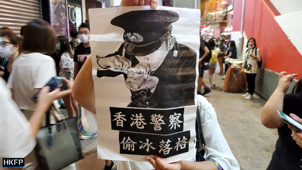 """May 13 2020"" Carrie Lam birthday Mong Kok protest riot police"