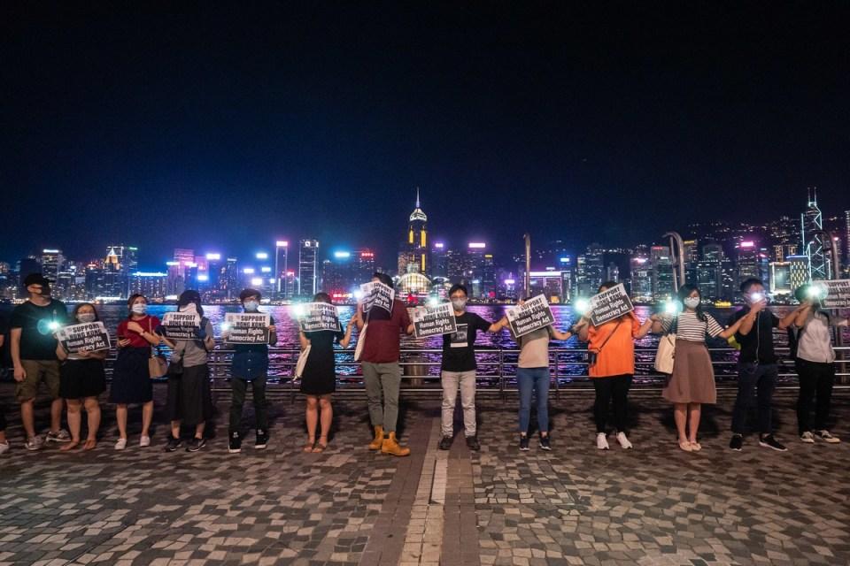human chain victoria park 23 de agosto de 2019