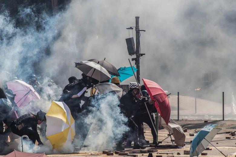 tear gas poly-u umbrellas
