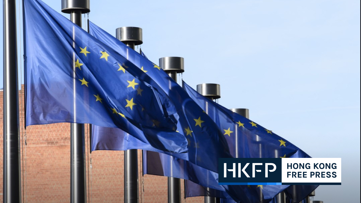 European Union Commission Flags Brussels