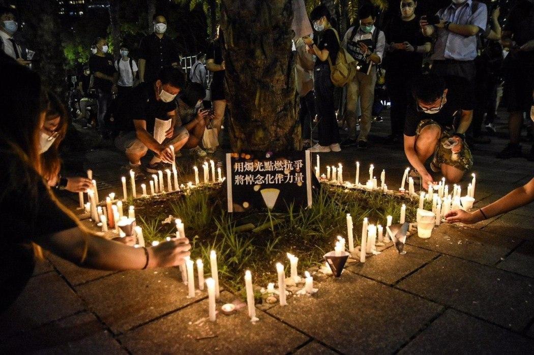 candle tiananmen vigil june 4 victoria park 2020