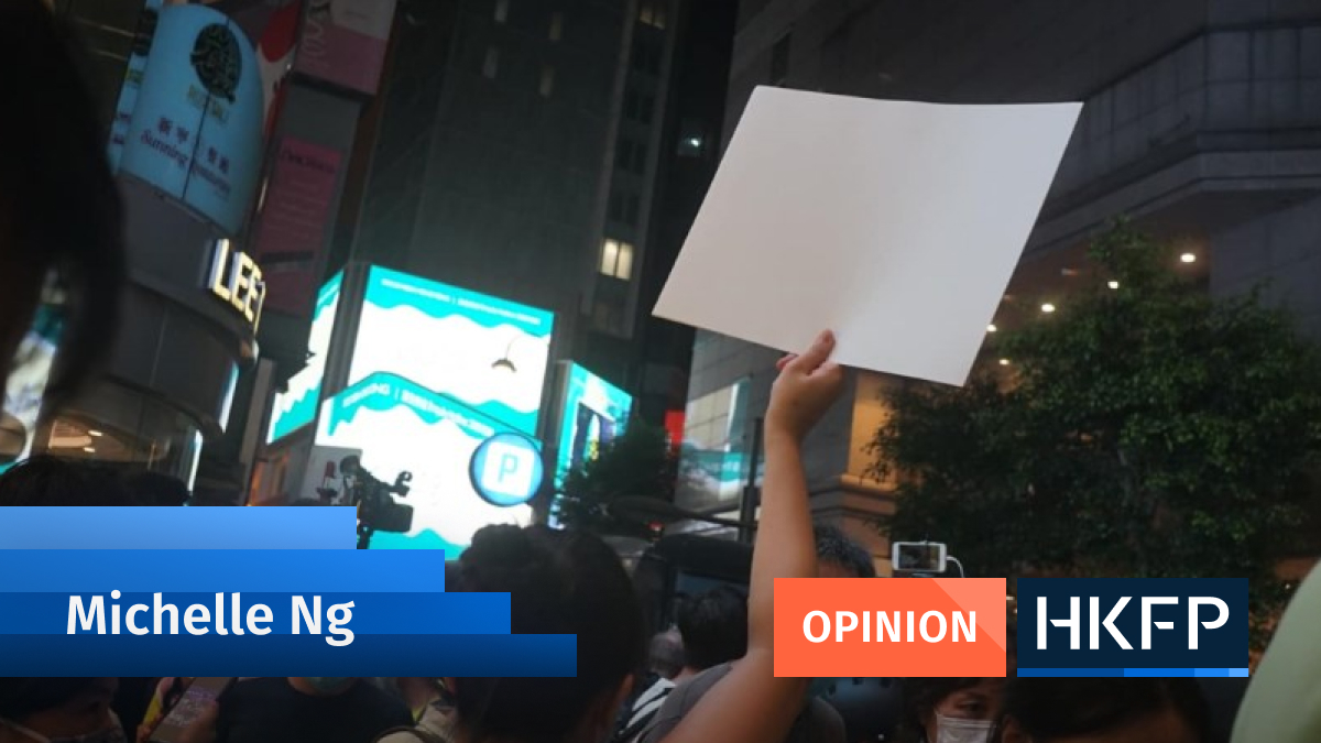 Article - Opinion - MIchelle ng placard