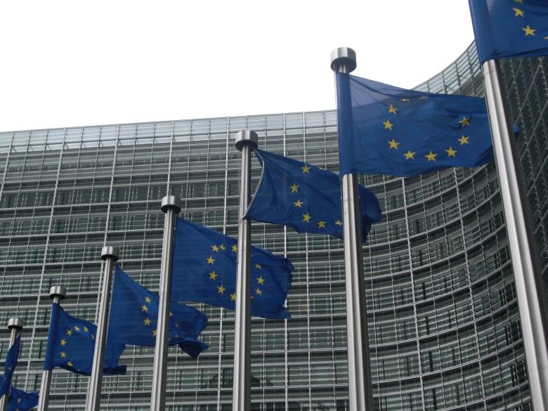 EU Commission flags