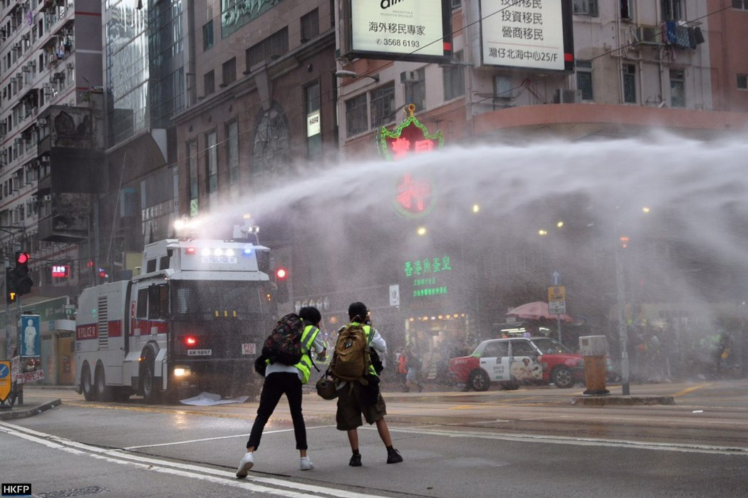 water cannon causeway bay 1 july 2020 (4)