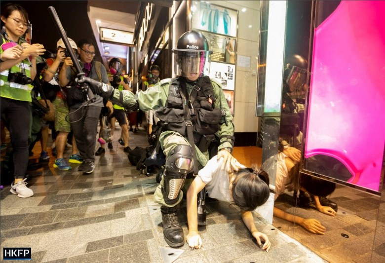 SOPA awards police girl baton arrest