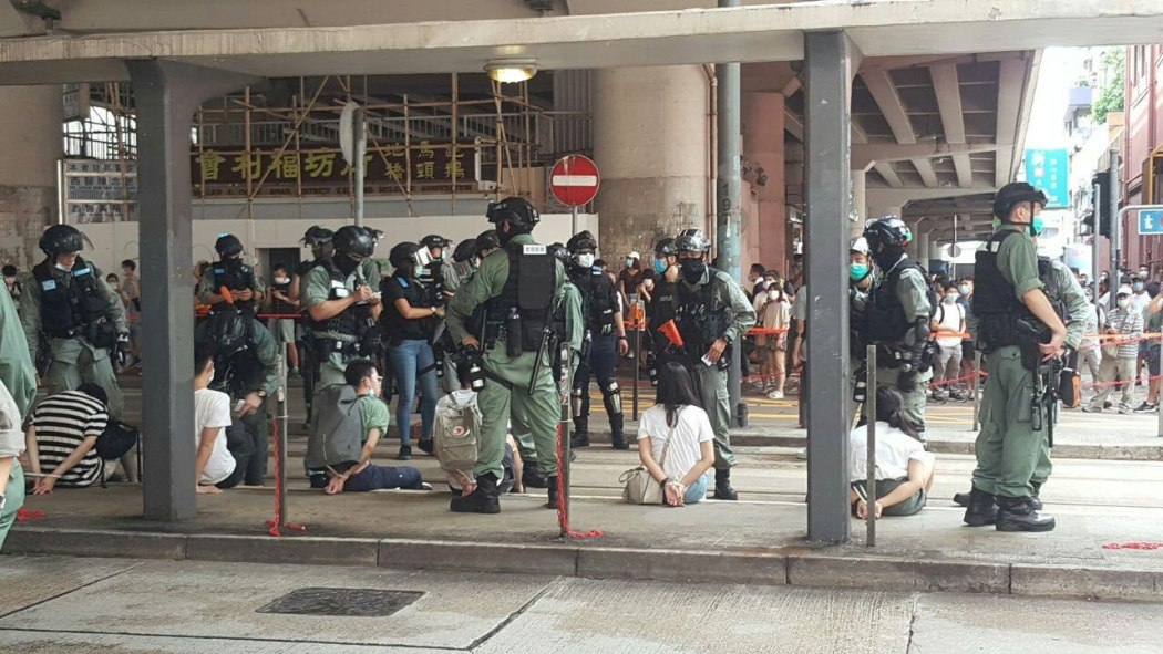 arrested protesters causeway bay 1 July 2020