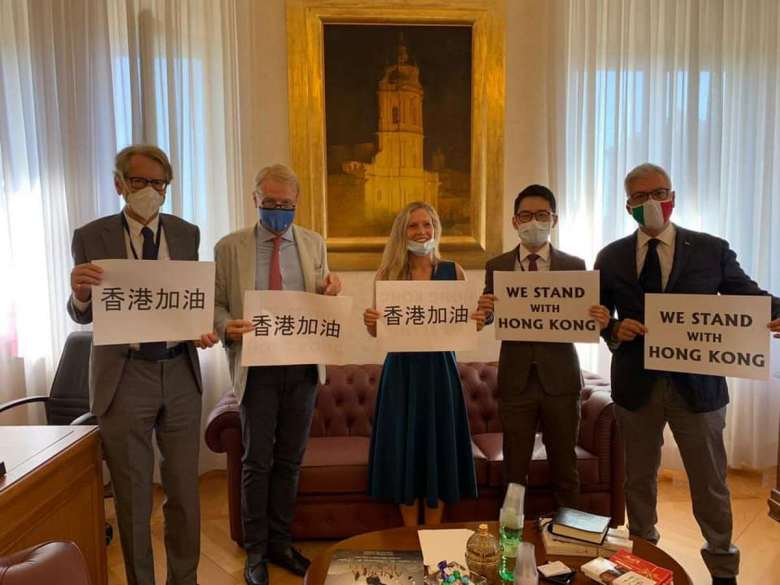 Nathan Law Italy Foreign Ministry