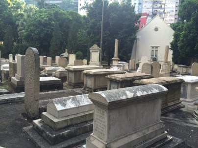 View of the Jewish Cemetery in Hong Kong, taken in 2015