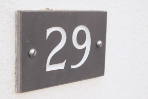 29 Manorcombe number plaque