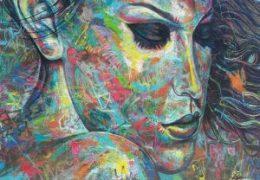 Eine Grafiti Frau zeigt wie Loslassen gelingt