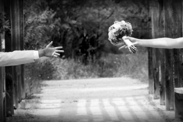 Ein Brautpaar hat Bindungsangst