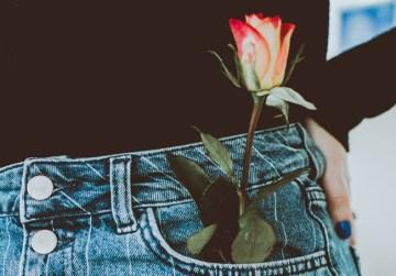Eine Rose als Zeichen der Wertschätzung