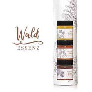 Tube: «Wald-Essenz» Lindenhonig, Kastanienhonig und Tannenhonig
