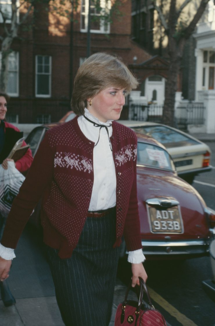 Lady Diana outside her London flat in November 1980.nbsp