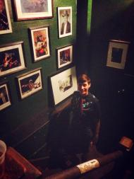 Pre-show photo ops in the stairwell backstage at Tipitina's