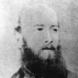 鉄道発祥記念碑とエドモンド=モレルの肖像