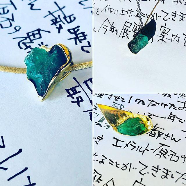 It is last minute to make jewelry...I have to send invitations to.... 明後日の出発に向けて最後の追い込み。手紙も書かないかんし、 @honoka