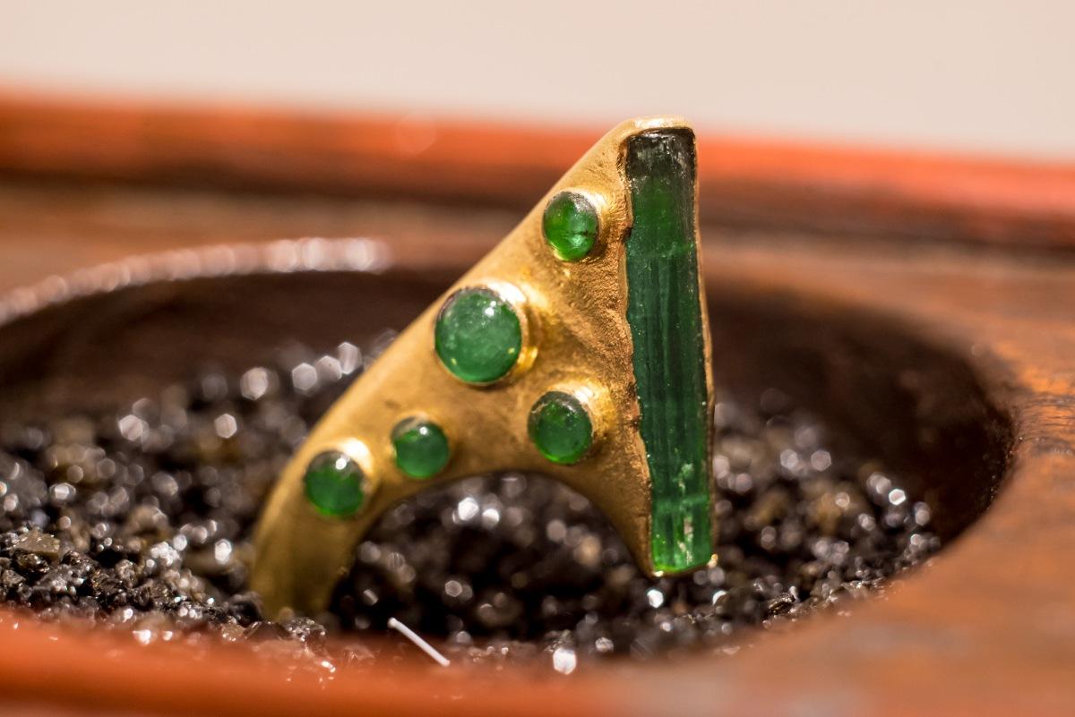 Honoka Kawazoe hand crafted raw emerald jewelry