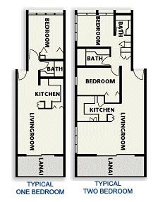 Honokeana Cove condos floor plans