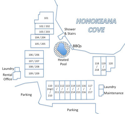 Honokeana Cove condos site plan