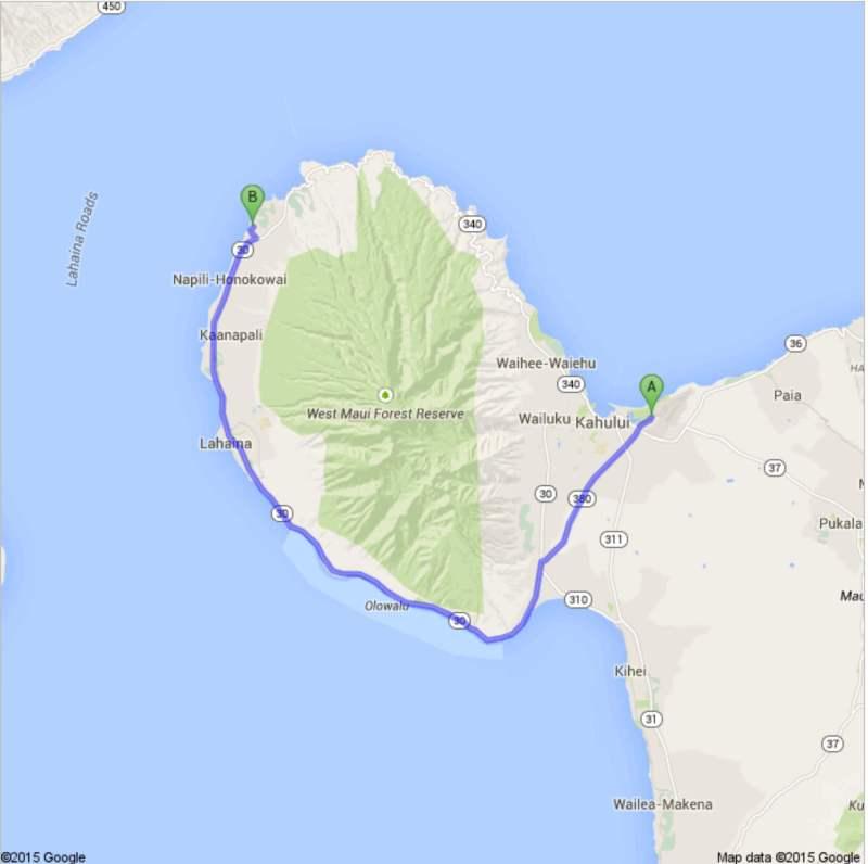 OGG to Honokeana Cove