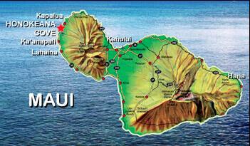Honokeana Cove Weather - Maui map