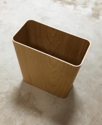 0102018c (無印)木製ごみ箱に「ロール式ごみ袋15L用」をセット1