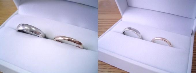 購入して頂いた婚約指輪や結婚指輪の新品仕上げ依頼時に、実はリングケースまで新品に交換しています