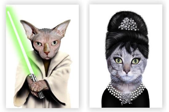 مخلوط های خنده دار عکس حیوانات خانگی و افراد مشهور