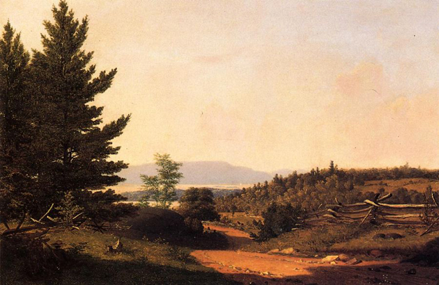 Road Scenery near Lake George: 1849