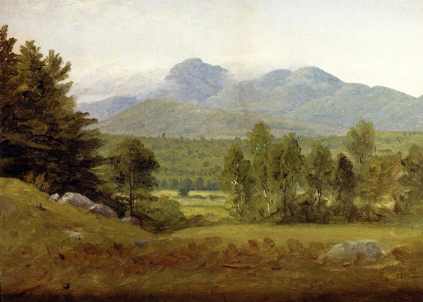 Sketch of Mount Chocorua - New Hampshire: 1854