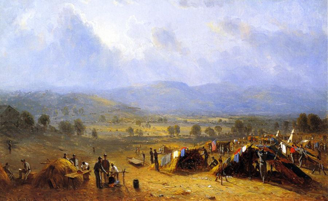The Camp of the Seventh Regiment near Frederick, Maryland: 1863