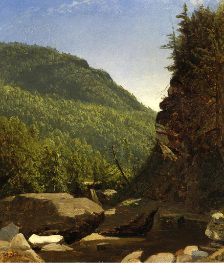 The Top of Kauterskill Falls: 1850