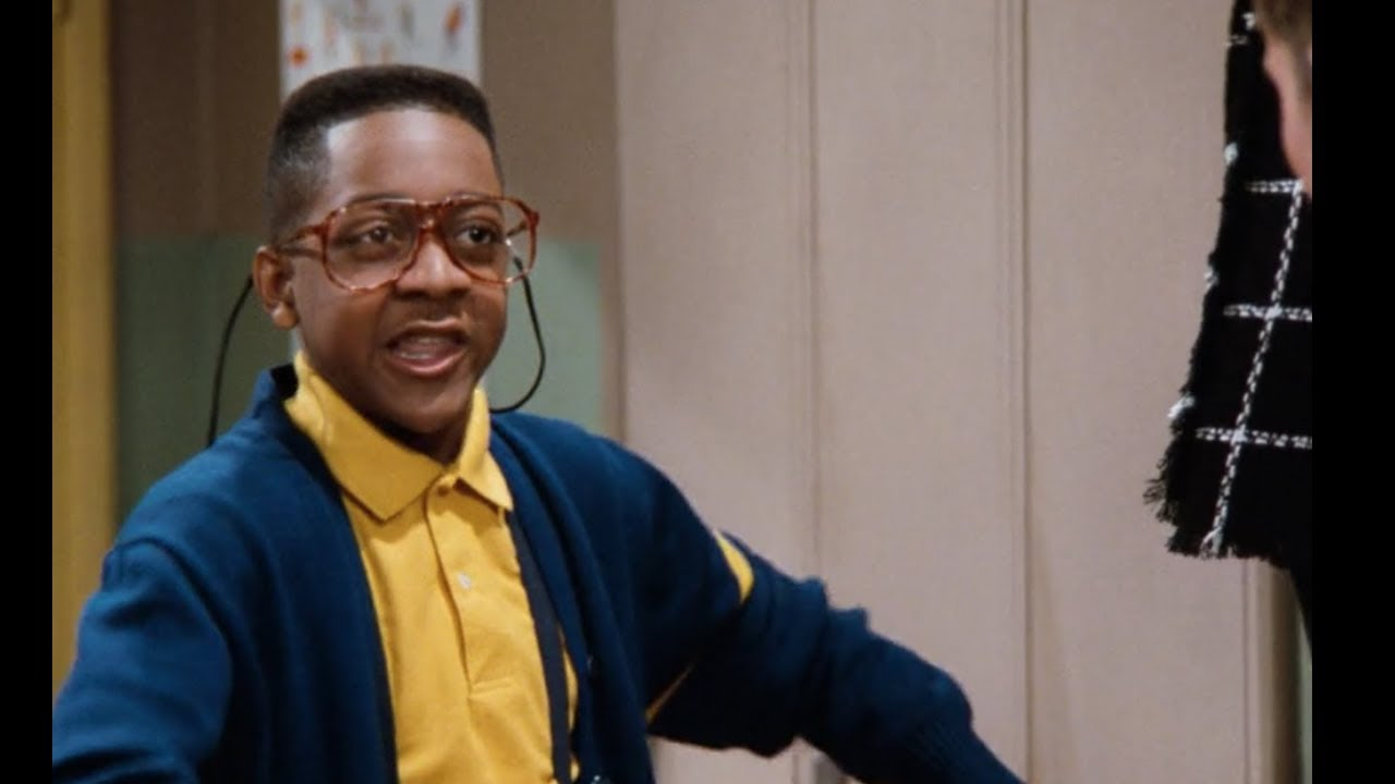 Steve Urkel, a stereotypical Negroe intellectual.