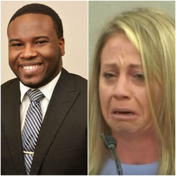Botham Jean and Amber Guyger