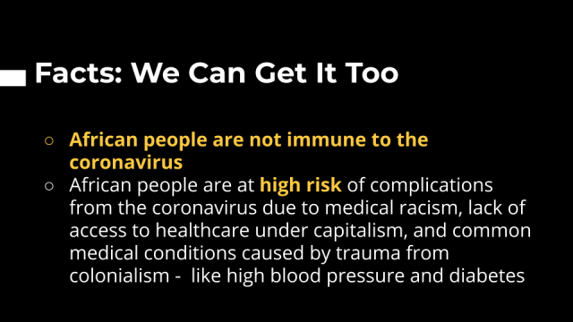Information about the coronvirus.