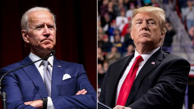 Joe Biden and Donald Trump, candidates in the 2020 US Presidential Election