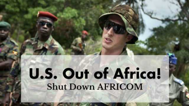 US out of Africa - Shut down AFRICOM!