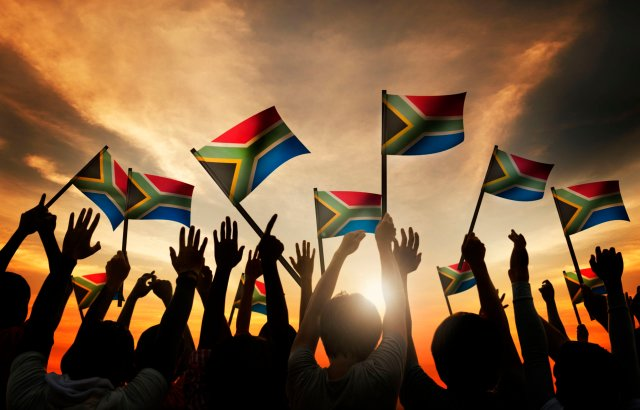 A South African flag waved on Heritage Day