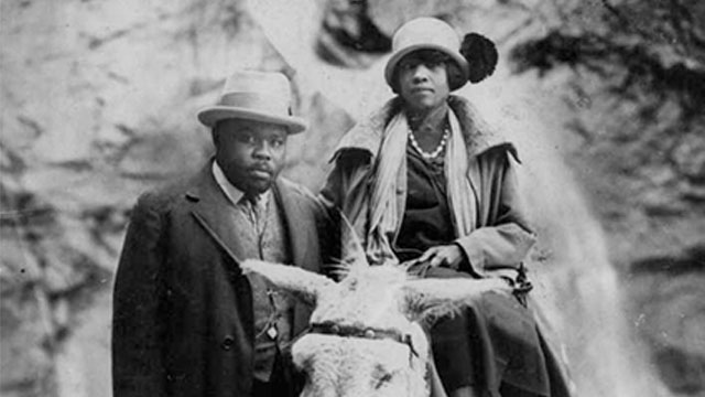 Marcus Garvey and revolutionary African woman, Amy Jacques Garvey