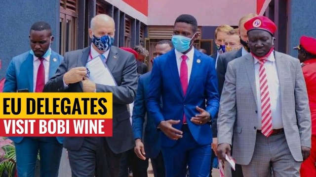 Bobi Wine meeting with a delegation from the European Union